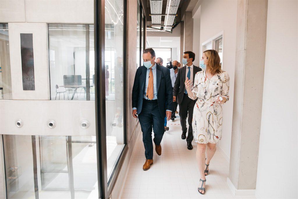 Antwerpse burgemeester en schepenen in BlueChem-incubator
